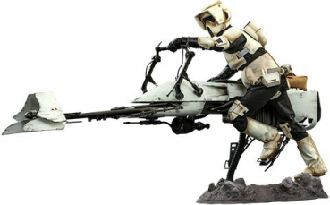 STAR WARS: The Mandalorian - Actionfigur 1/6 Scout Trooper & Speeder Bike (Hot Toys)