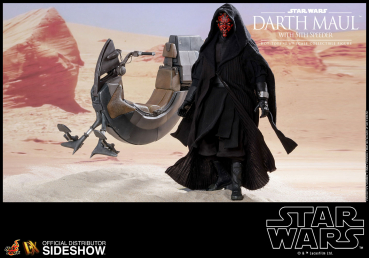 STAR WARS: Episode I - DX Series Actionfigur 1/6 Darth Maul & Sith Speeder (Hot Toys)