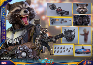 GUARDIANS OF THE GALAXY 2 - Movie Masterpiece Actionfigur Rocket Deluxe Ver. (Hot Toys)