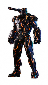 IRON MAN 2 - MMS Diecast Actionfigur 1/6 Neon Tech War Machine Hot Toys Exclusive (Hot Toys)