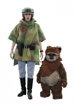 STAR WARS: Episode VI - Movie Masterpiece Actionfigur 1/6 Princess Leia & Wicket (Hot Toys)