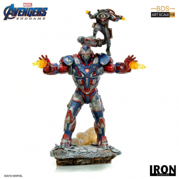 AVENGERS: Endgame - BDS Art Scale Statue 1/10 Iron Patriot & Rocket (Iron Studios)