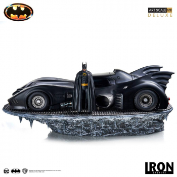 BATMAN (1989) - Deluxe Art Scale Statue 1/10 Batman & Batmobile (Iron Studios)