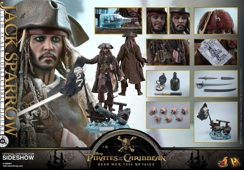 PIRATES OF THE CARIBBEAN: Salazars Rache - Movie Masterpiece DX Actionfigur Jack Sparrow (Hot Toys)