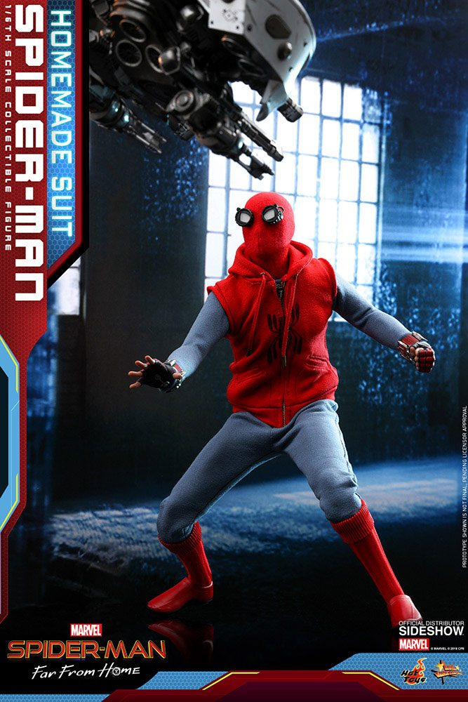 SPIDER-MAN: Far From Home - Movie Masterpiece Actionfigur 1/6 Spider-Man (Homemade Suit)  (Hot Toys)