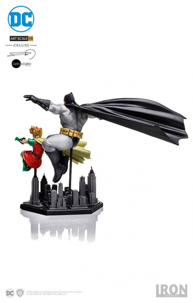 BATMAN - Art Scale Deluxe Statue 1/10 Batman & Robin (Dark Knight Returns) (Iron Studios)