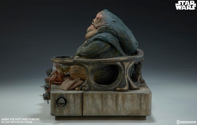 STAR WARS: Episode VI - Actionfigur 1/6 Jabba the Hutt & Throne Deluxe (Sideshow)